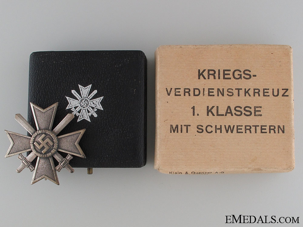 A War Merit Cross 1st Class by Klein & Quenzer
