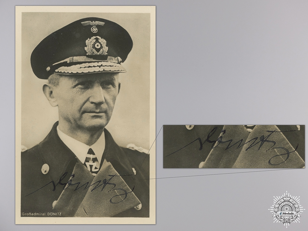 A Wartime Signed Photograph of Admiral Donitz