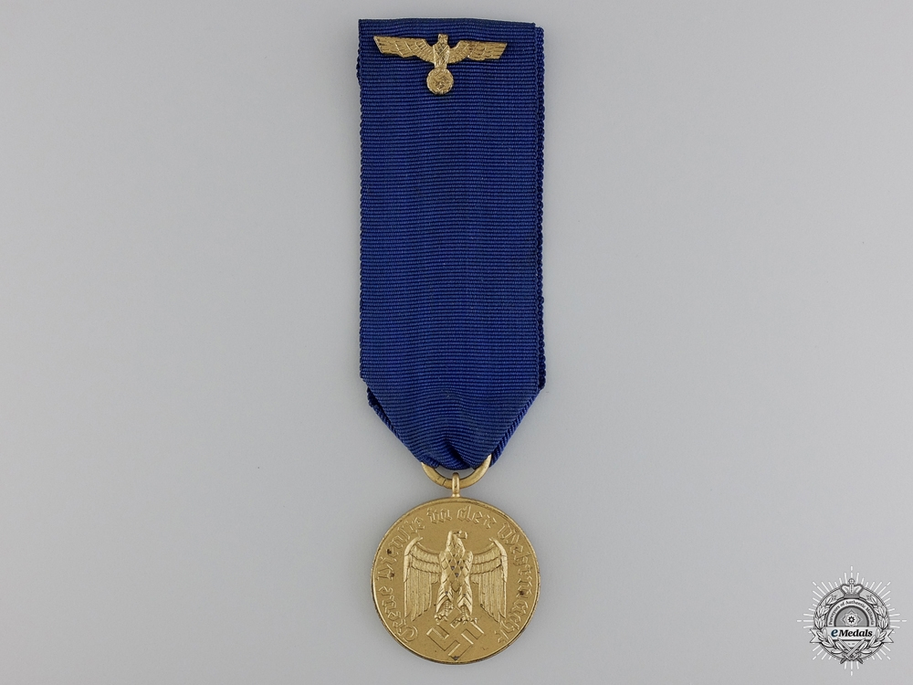 A Wehrmacht Long Service Award; Third Class for 12 Years Service