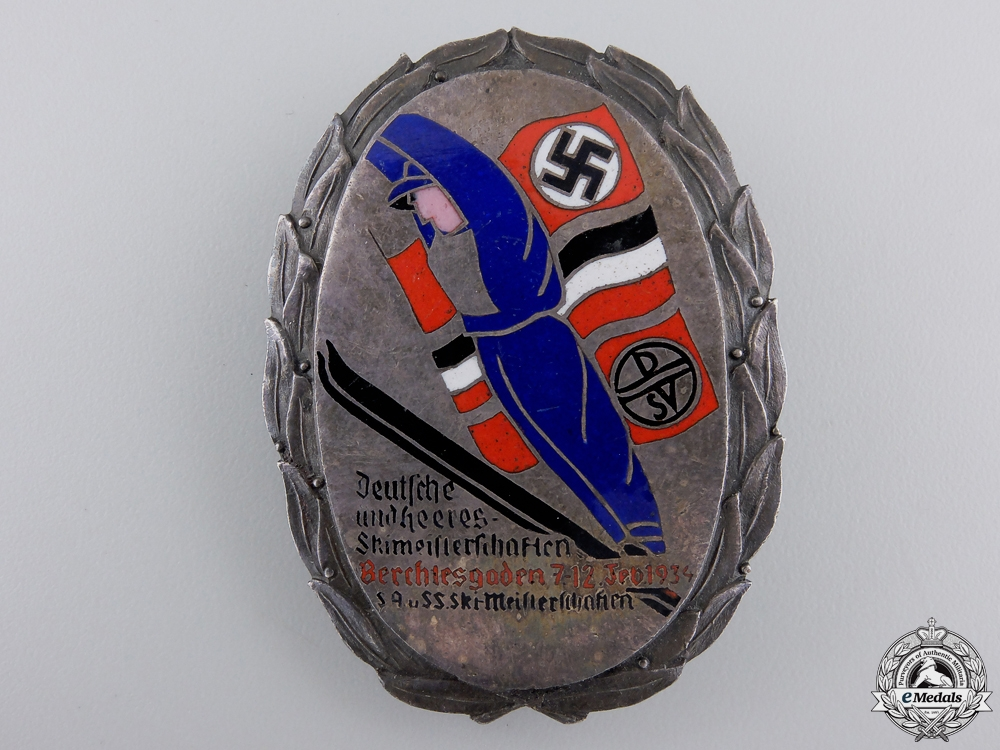 A Wehrmacht Ski-Meisterschaften Award by C. Poellath