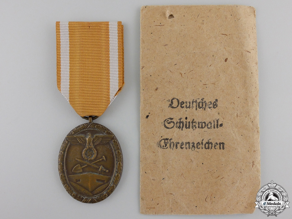 A West Wall Medal with Packet of Issue