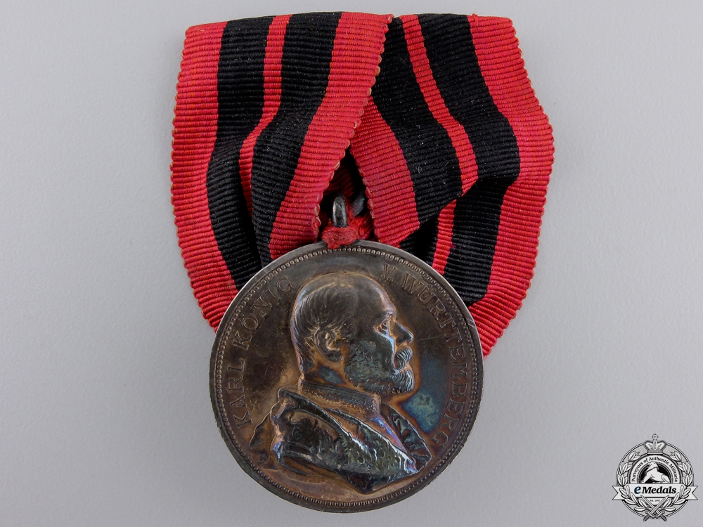 A Wurttemberg 1889 25th Karl Jubilee Medal