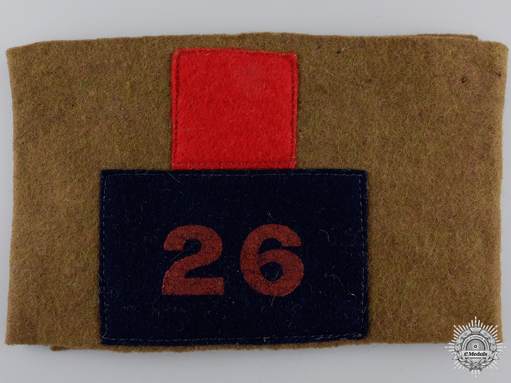 A WWI 26th Infantry Battalion Reunion Armband  Consignment #4
