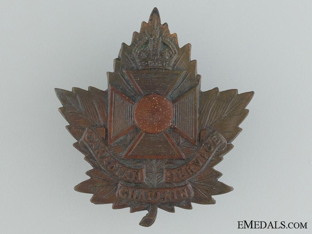 A WWI Canadian Chaplain Cap Badge by J.R.Gaunt