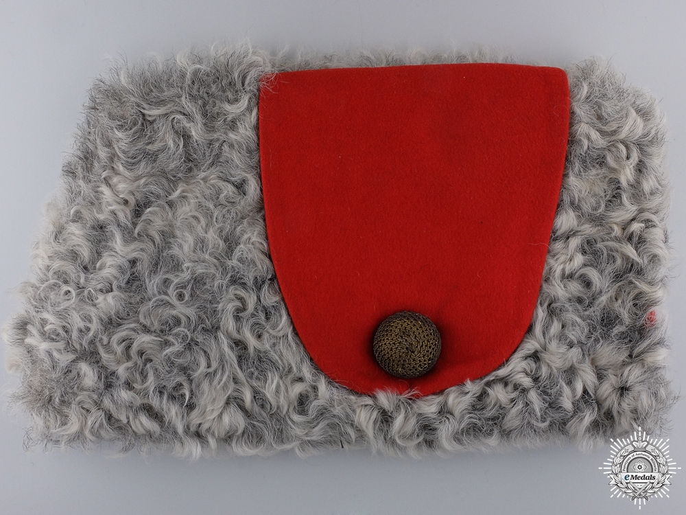 A WWI Canadian Royal Military College  Cadet's Fur Wedge Cap