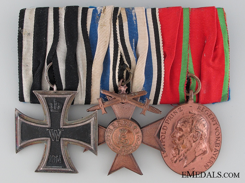 A WWI Period Bavarian Medal Bar