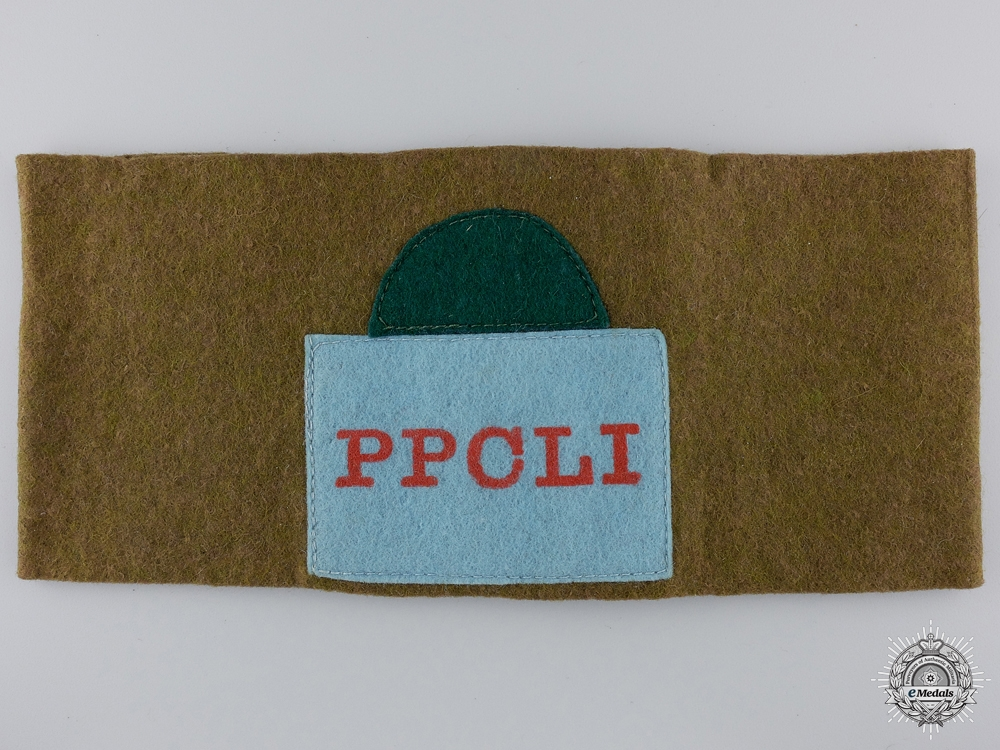A WWI Princess Patricia's Canadian Light Infantry Reunion Armband  Consignment #4