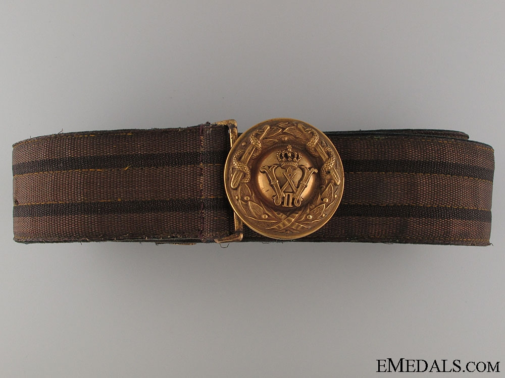 A WWI Prussian Medical Officer's Belt & Buckle