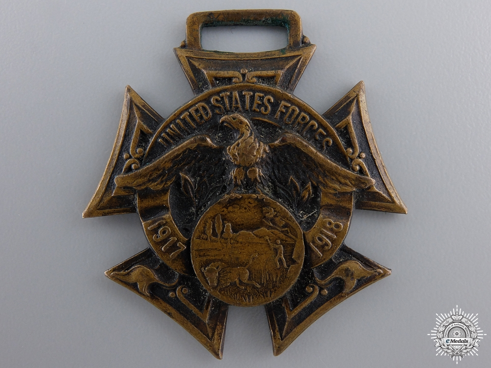 A WWI Wabash County Indiana United States Forces Medal to W. McCombs