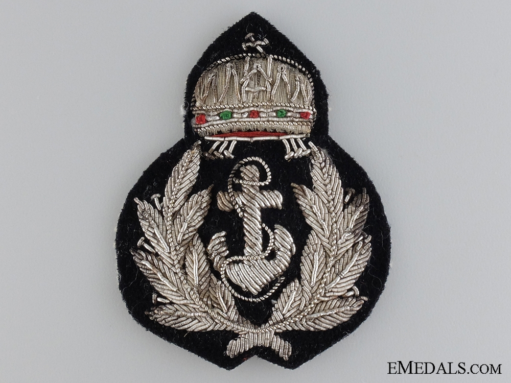 A WWII Hungarian Officer's River Forces Cap Badge