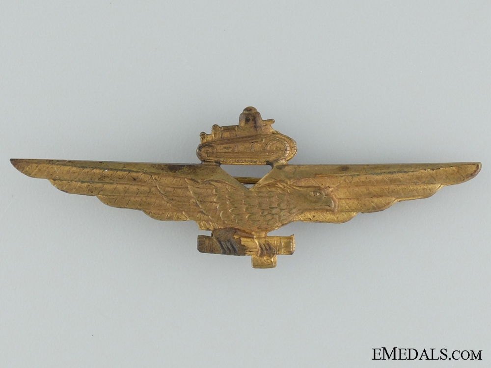 A WWII Italian Tank Busters Pilot Badge
