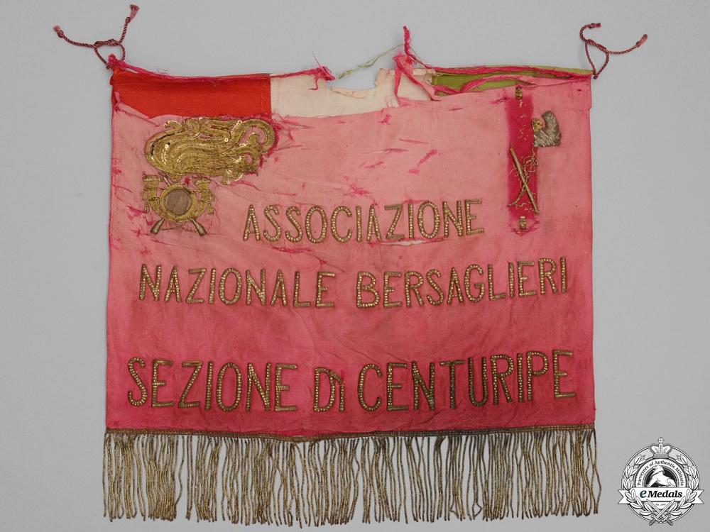 A WWII Town of Centuripe Bersaglieri National Association Banner