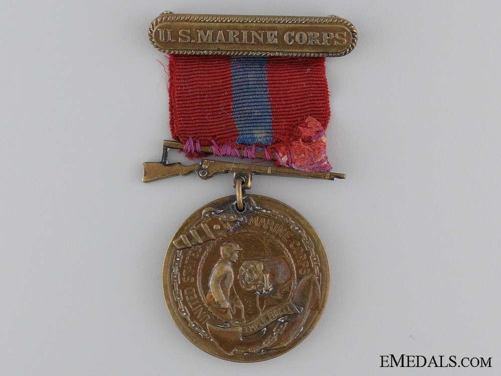 A WWII United States Marine Corps Good Conduct Medal; Numbered