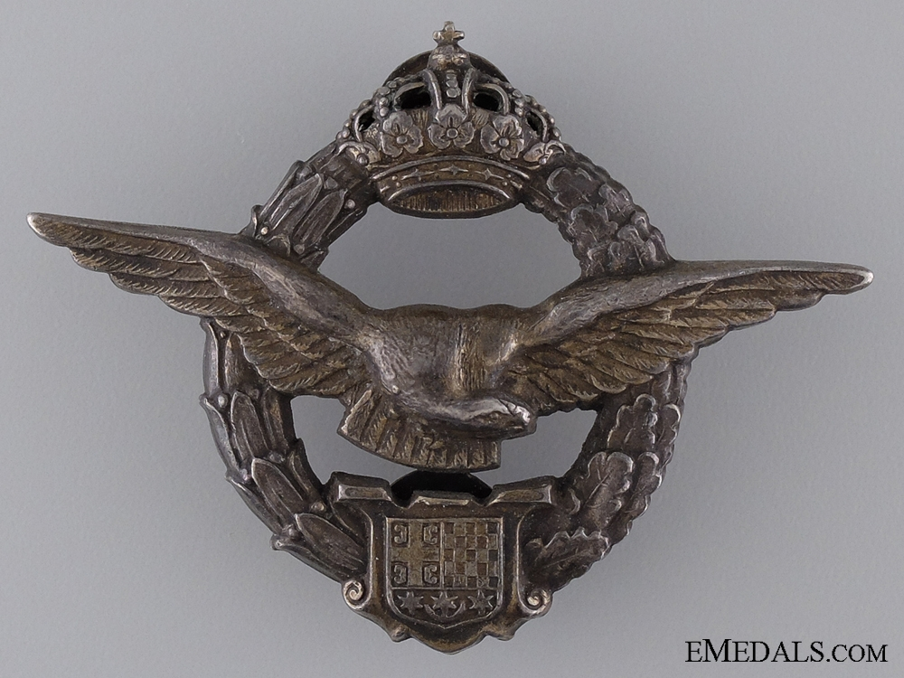 A Yugoslavian Army Air Service Pilot's Badge