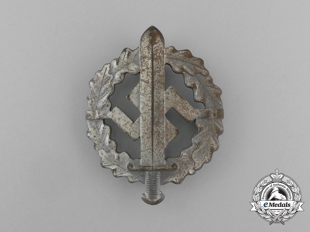 Germany, SA. A Sports Badge, Silver Grade, by W. Redo of Saarlautern