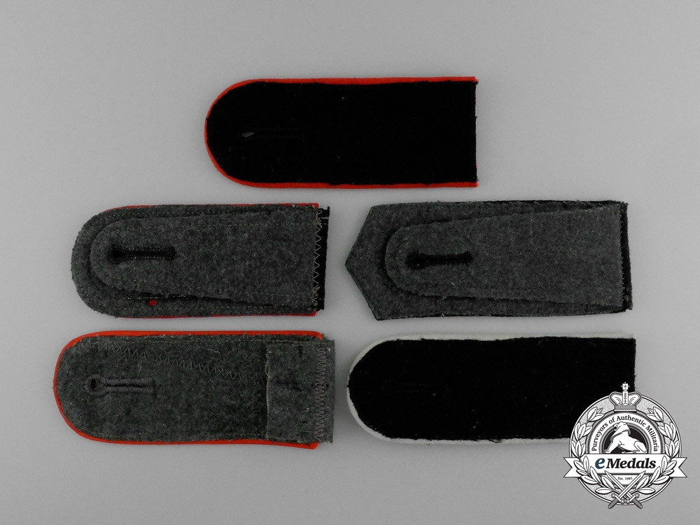 A Grouping of Five Mint Second War German Mismatched Shoulder Boards