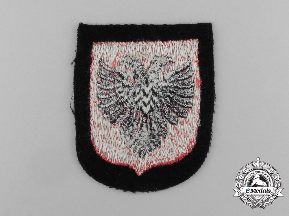 Germany, SS. A Waffen-SS Albanian Foreign Volunteer Sleeve Shield