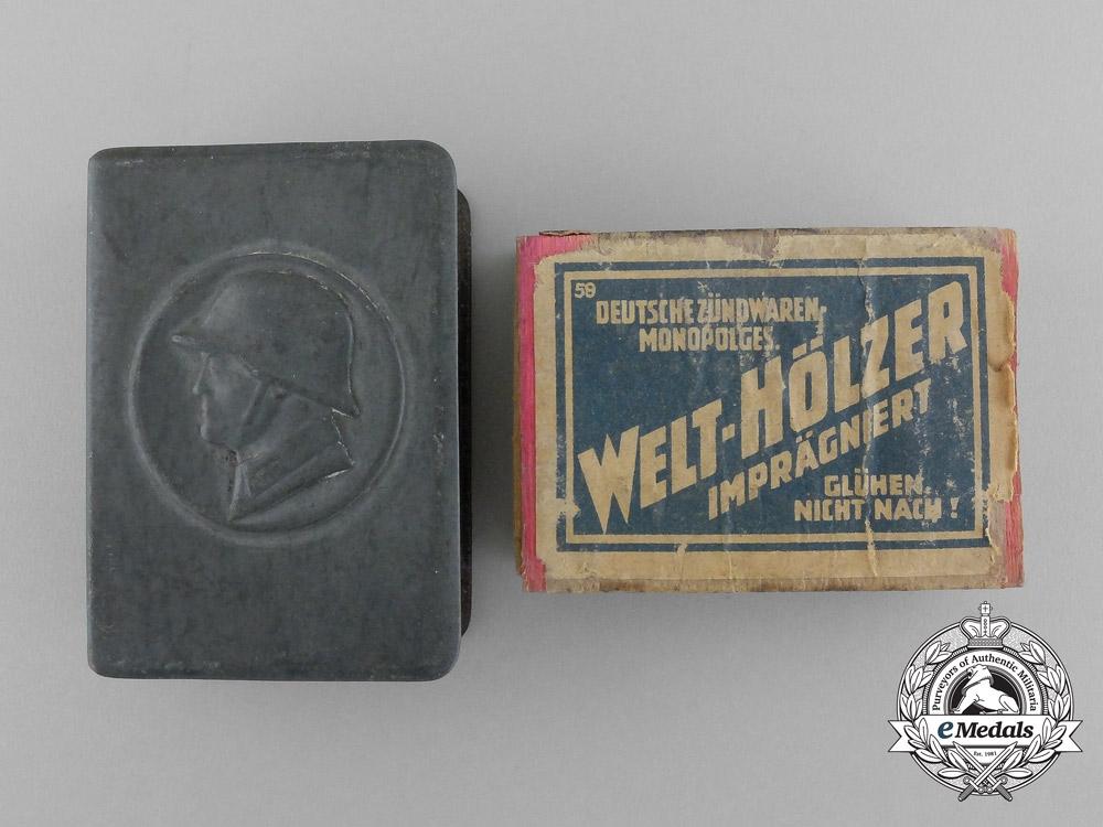 A First War German Army (Heer) Soldier Matchbox Cover