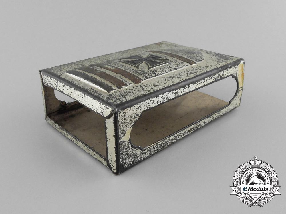 """A First War """"Fleissige Berta"""" (Little Bertha) Artillery Shell Matchbox Cover"""