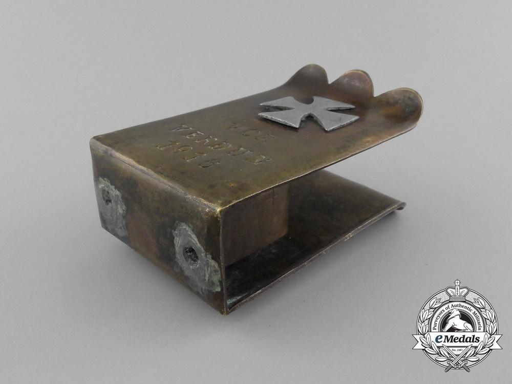 """A First War German Pioneer Battalion """"For Verdun"""" (Vor Verdun) Matchbox Cover 1916"""