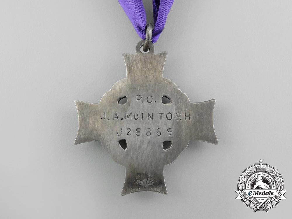 A Second War Memorial Cross Group to RCAF Pilot Officer John Alexander McIntosh