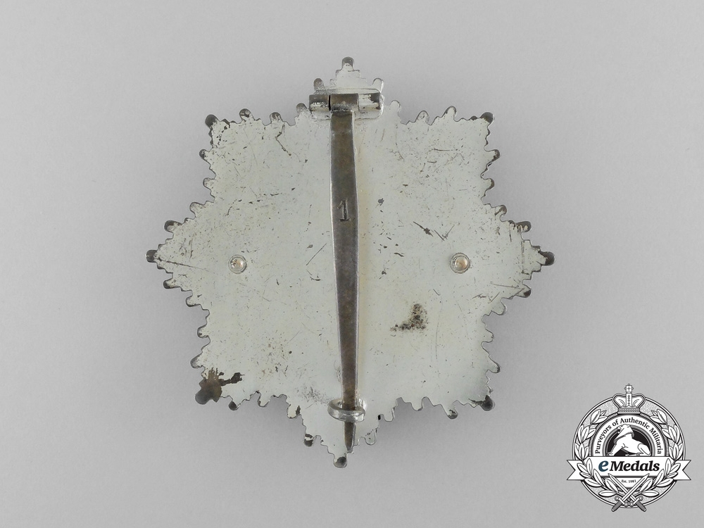 A Mint German Cross in Silver by Deschler; With Signed Fact Sheet of Recipient General Haulk