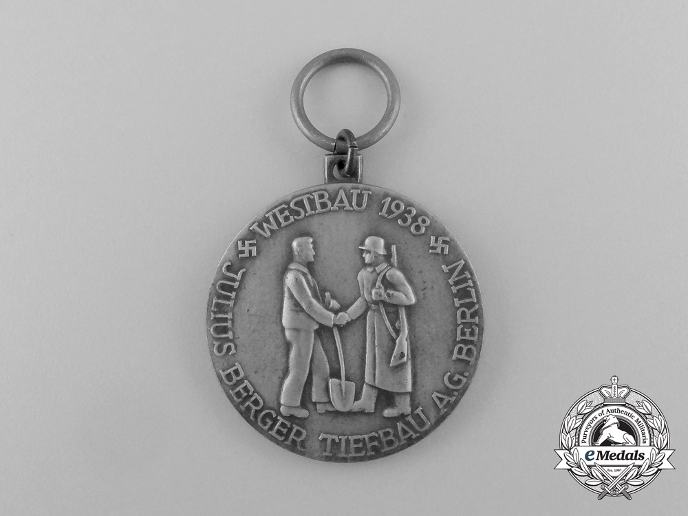 Germany. A 1938 Westwall Construction Participation Medal