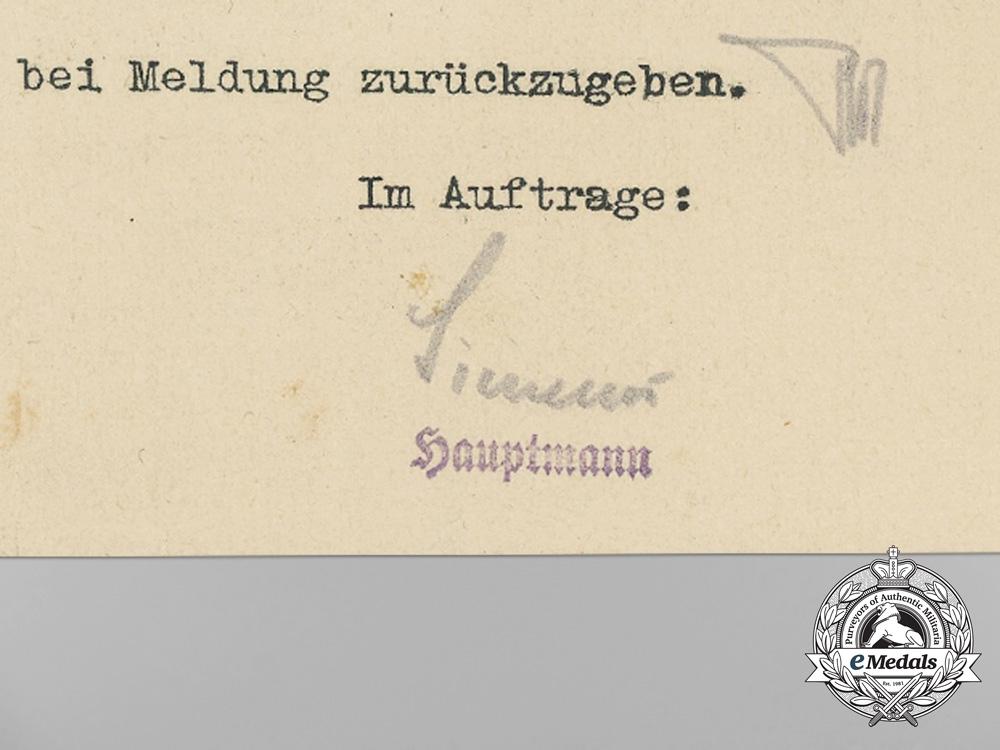 A Very Fine Group of Award Documents to Fallschirmjäger & POW