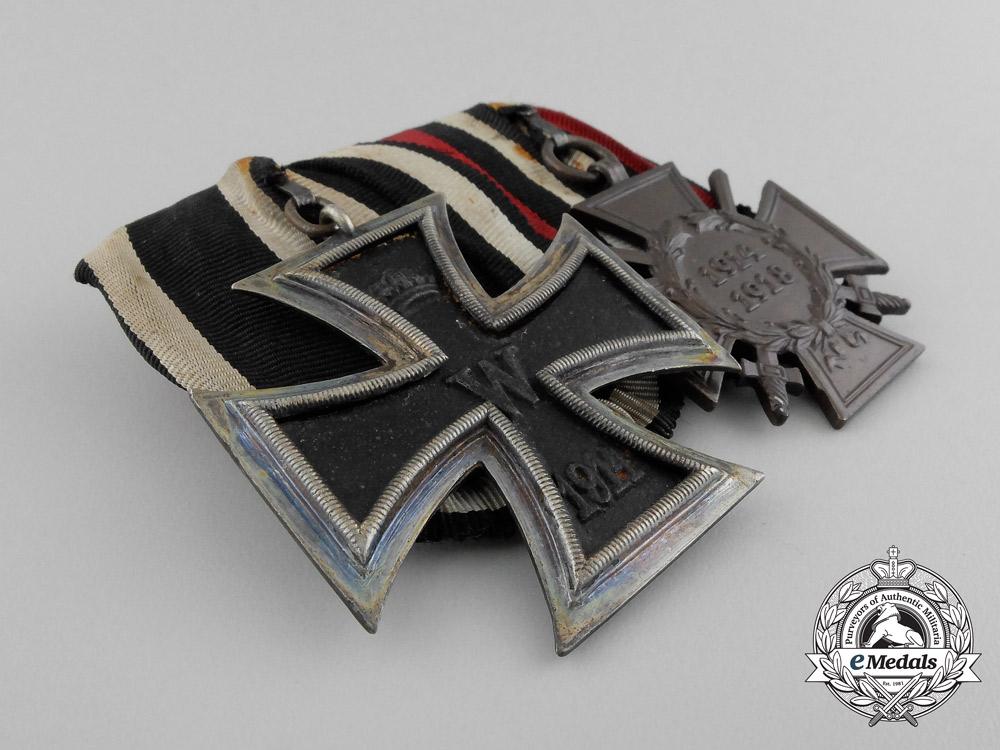 Germany, Imperial. A EK 1914 II Class & Hindenburg Cross Medal Bar