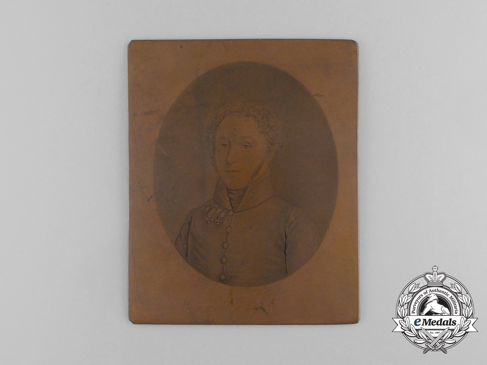 Austria, Empire. An Officer Portrait Printing Plate