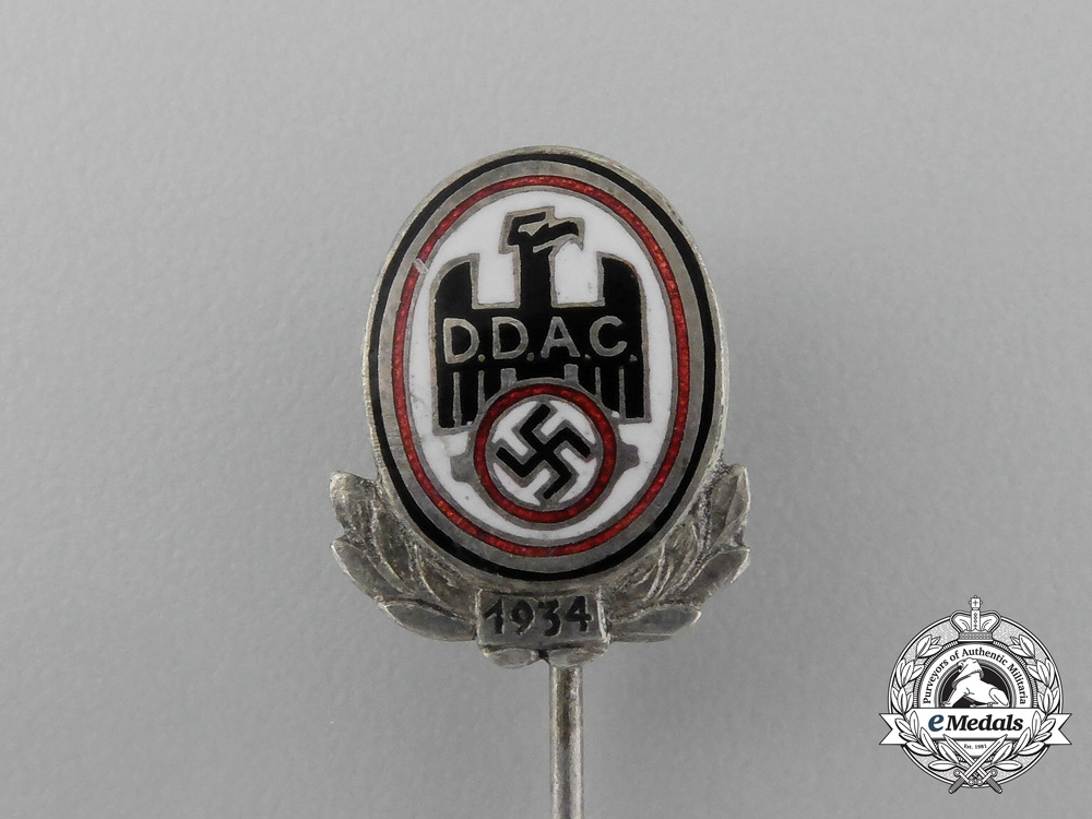 A 1934 D.D.A.C (The German Automobile Club) Membership Stick Pin
