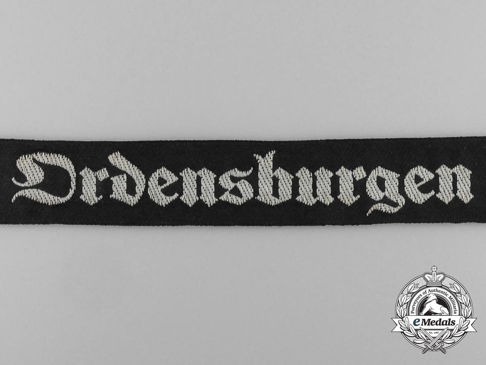 An Ordensburgen NSDAP School for Political Leaders Cufftitle