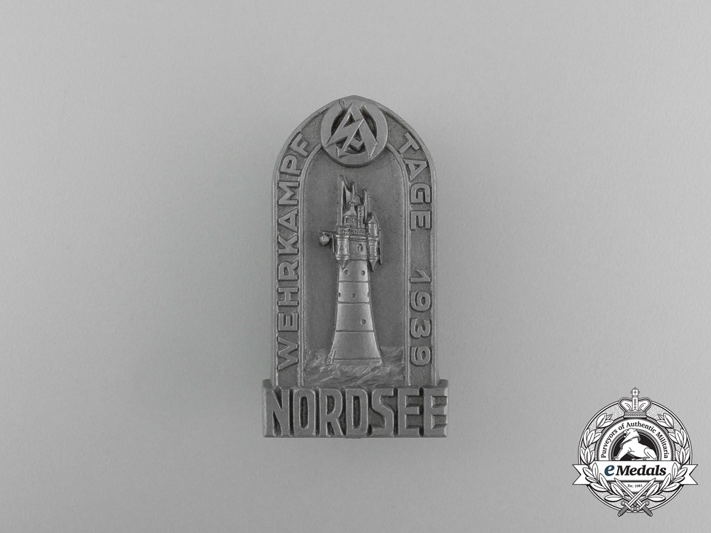 Germany, SA. A 1939 Nordsee Championship Days Badge, by Steinhauer & Lück