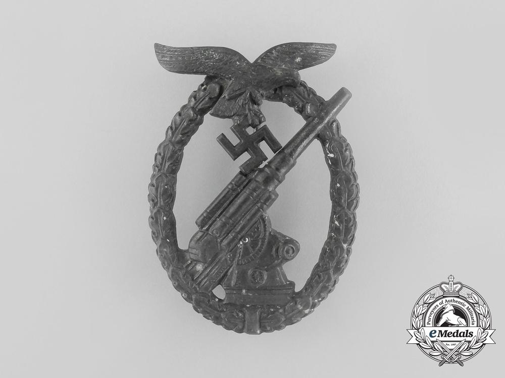 An Luftwaffe Flak-Anti-Aircraft Badge by Ferdinand Wiedmann