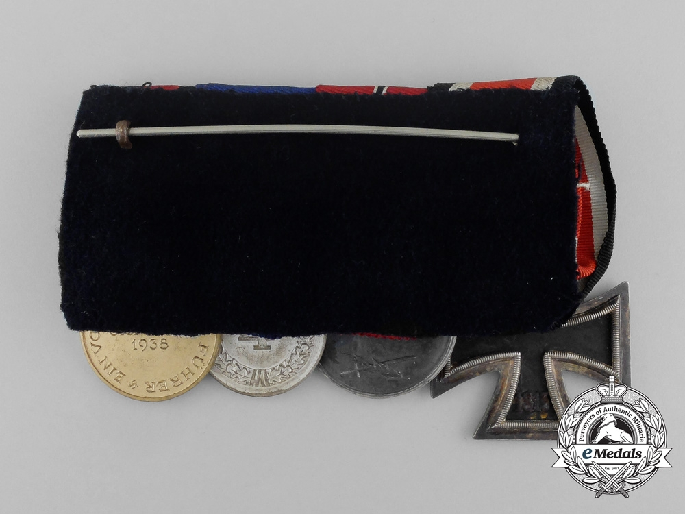 A Second War German Medal Bar of Four Medals, Awards and Decorations