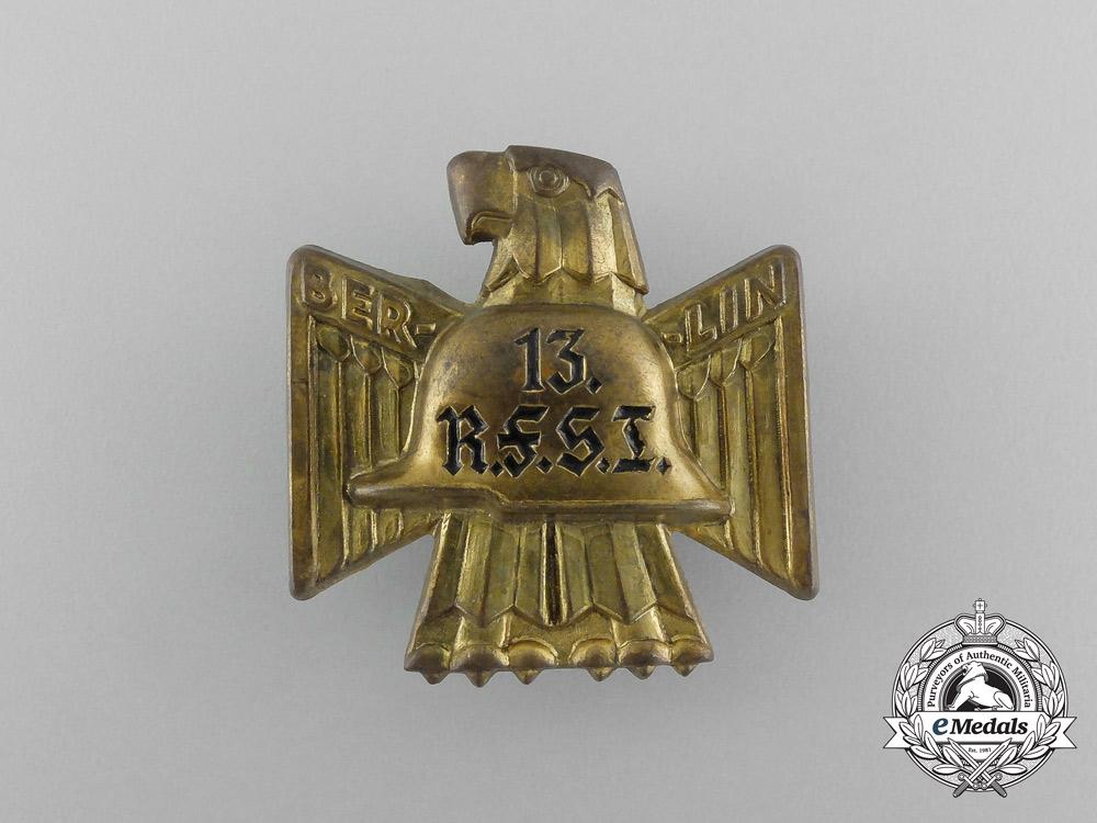 A Third Reich Period Berliner 13th RFSI Celebration Badge