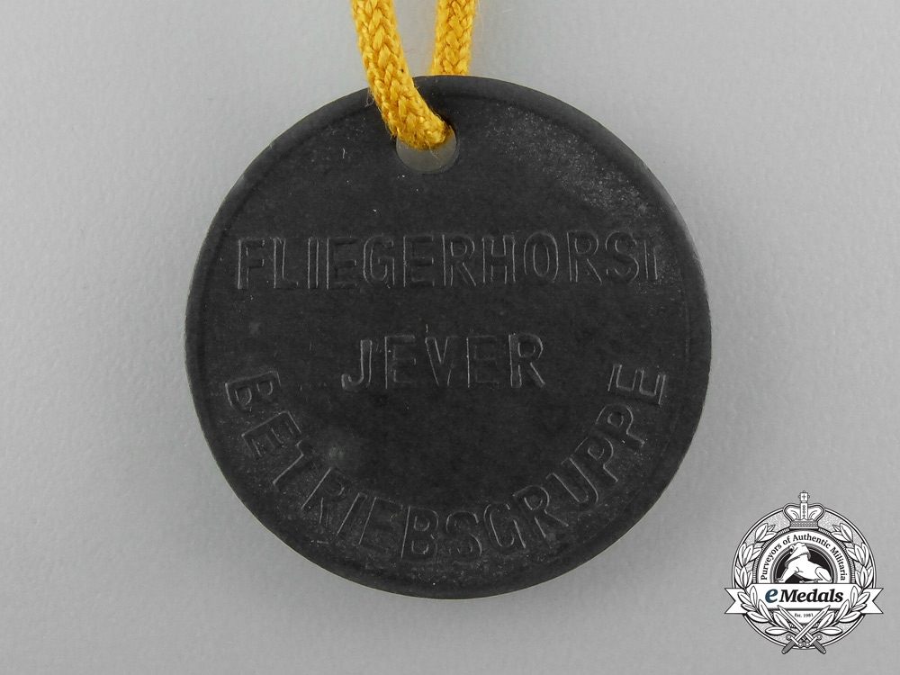 A Luftwaffe Jever Airport Maintenance Group Employee Tag