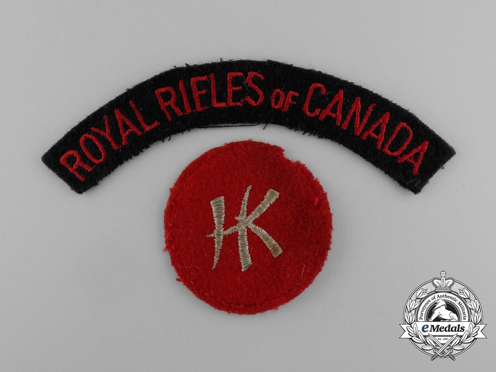 A Canadian Hong Kong Internment Group to Sgt. Fletcher; Royal Rifles of Canada