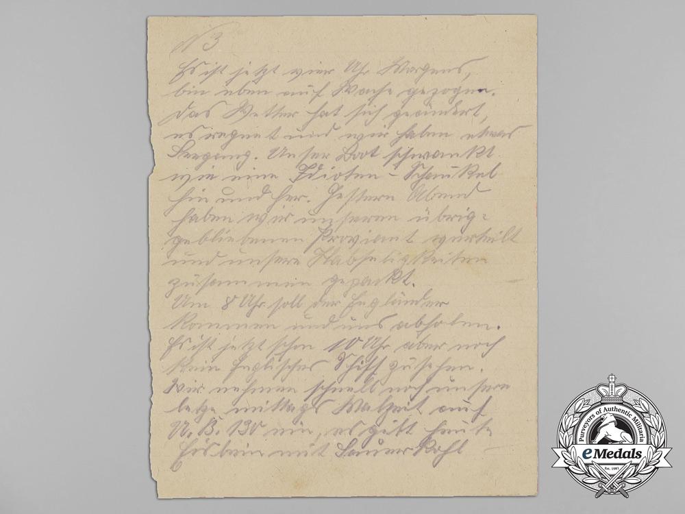 Germany, Kriegsmarine. An Extensive First War U-Boat Document Group of Willi Schulz