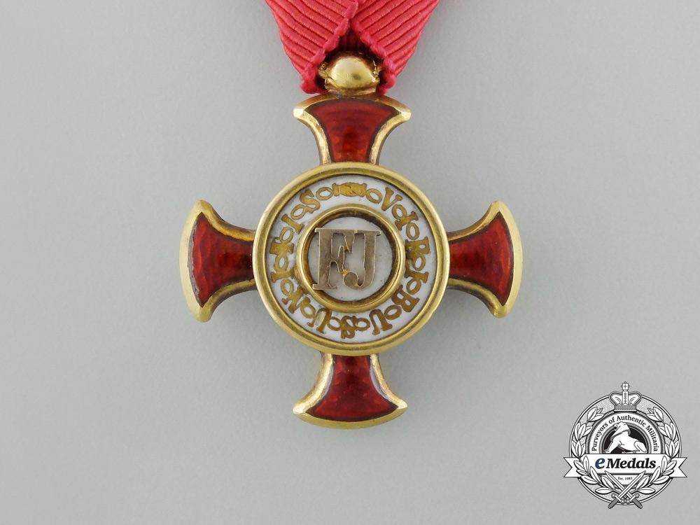 Austria, Imperial. A Merit Cross in Gold, by T.Braun, c.1860