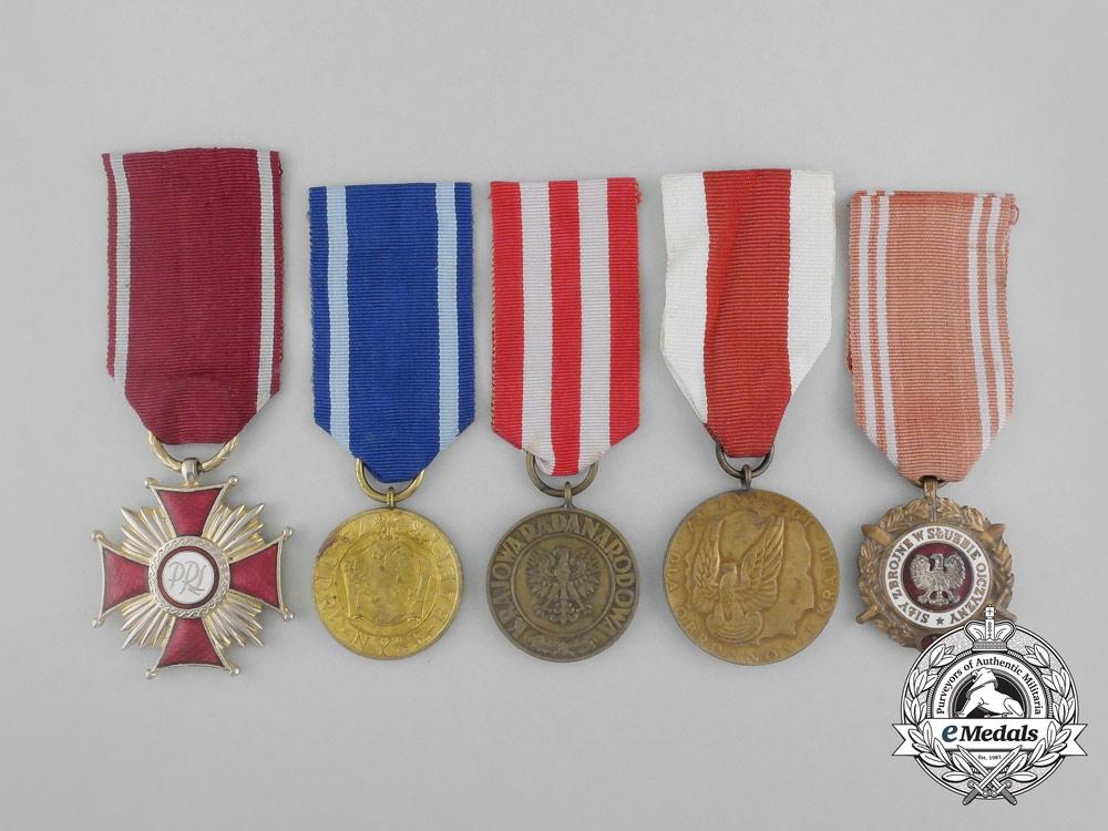 Five Polish Medals & Awards