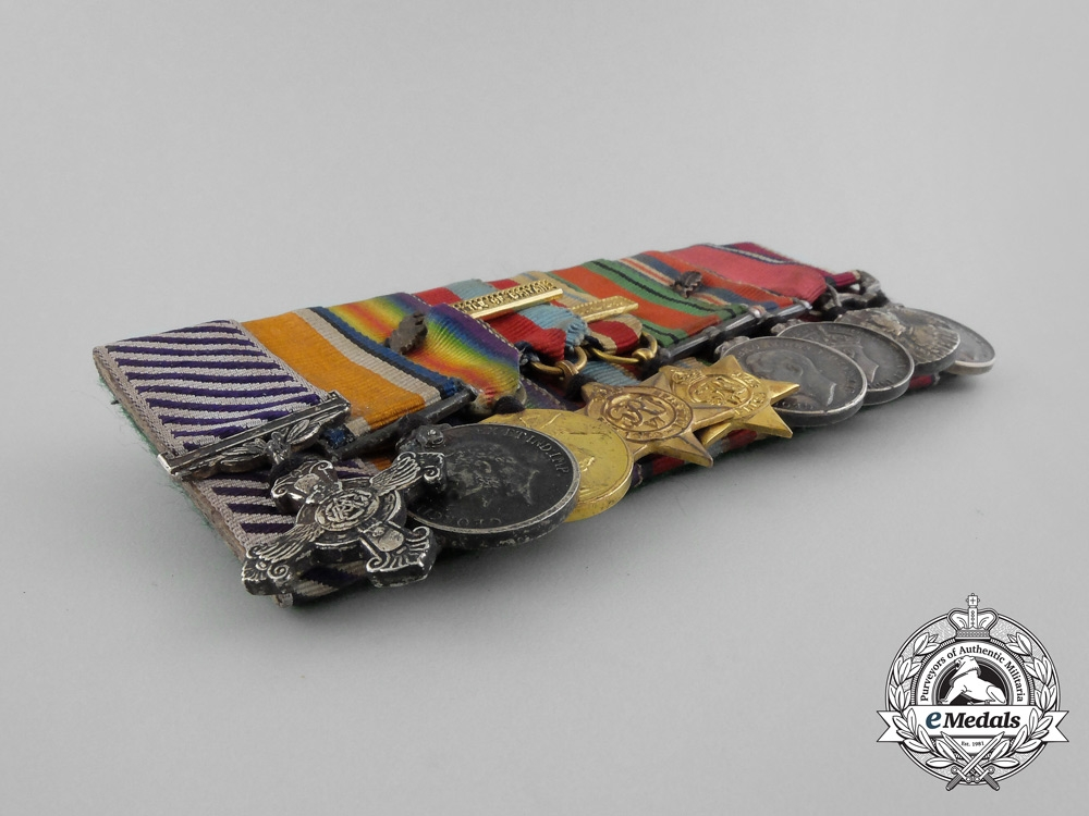 A Fine First War DFC Miniature Group to Wing Commander Rogers