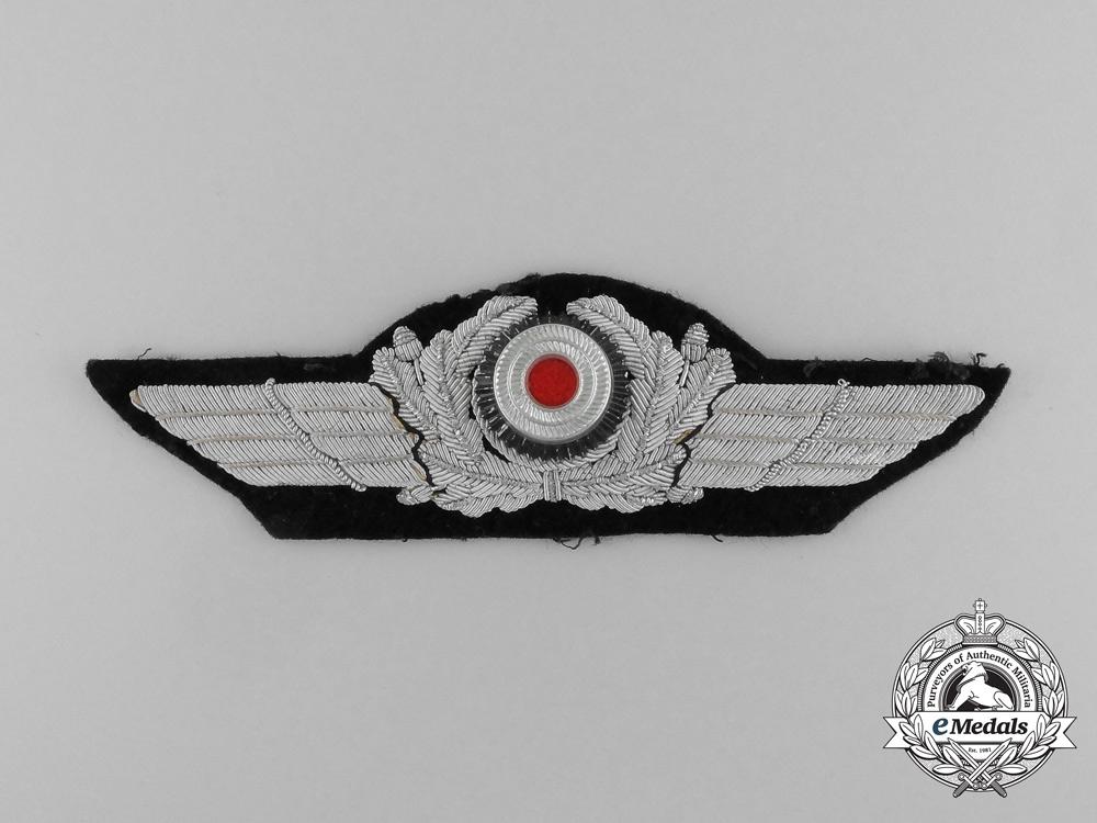 A Luftwaffe Officer's Visor Wreath and Cockade