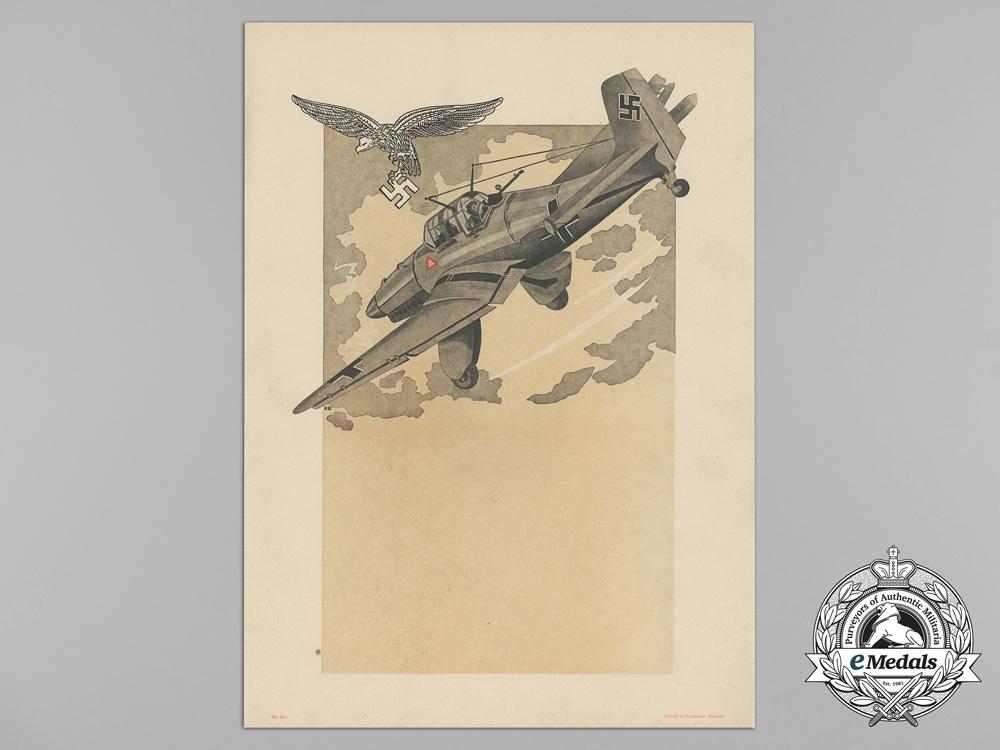 A Large Unissued Luftwaffe Marksmanship Award Document