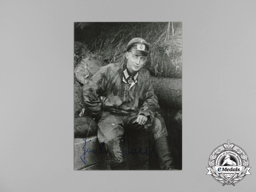 A Post War Signed Picture of KC Recipient Oberleutnant Günter Braake