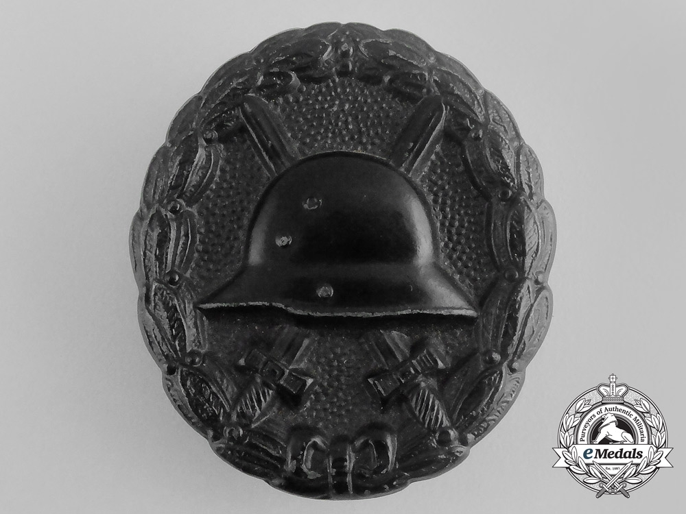 A German Imperial Wound Badge; Black Grade