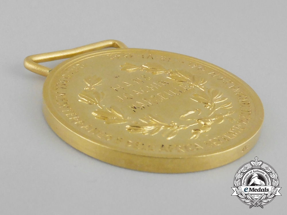 The Italian Medal for Military Valour in Gold to German Luftwaffe Ace Hans-Joachim Marseille