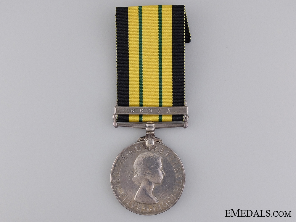 Africa General Service Medal to the E. African Army Ordnance Corps