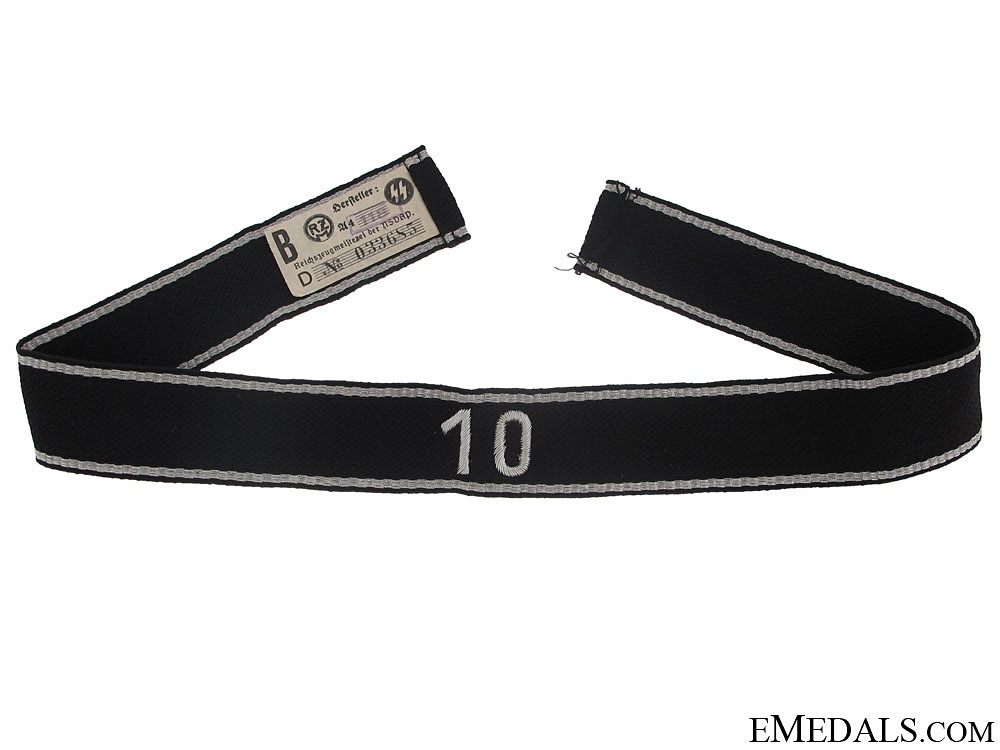 "Allgemeine-SS 10th Standarte Officer""¢¯s Cufftitle"