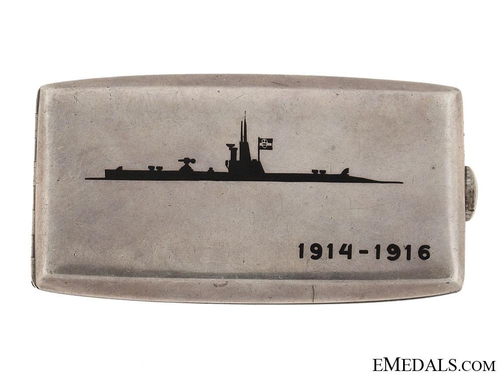 Silver Imperial Naval Presentation Cigarette Case